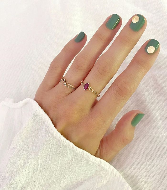 Fall Nail Colors: Matcha Green