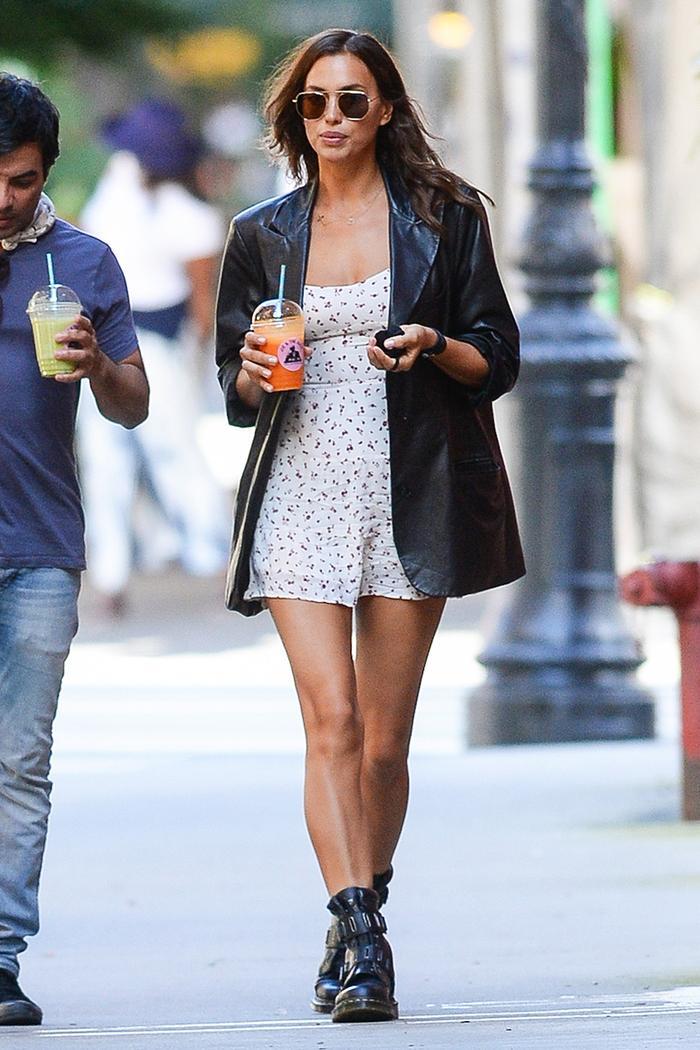Irina Shayk fall outfit trend
