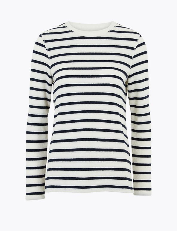 M&S Collection Cotton Striped Sweatshirt