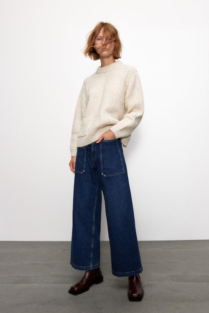 Zara Knit Sweater Vest With Pockets