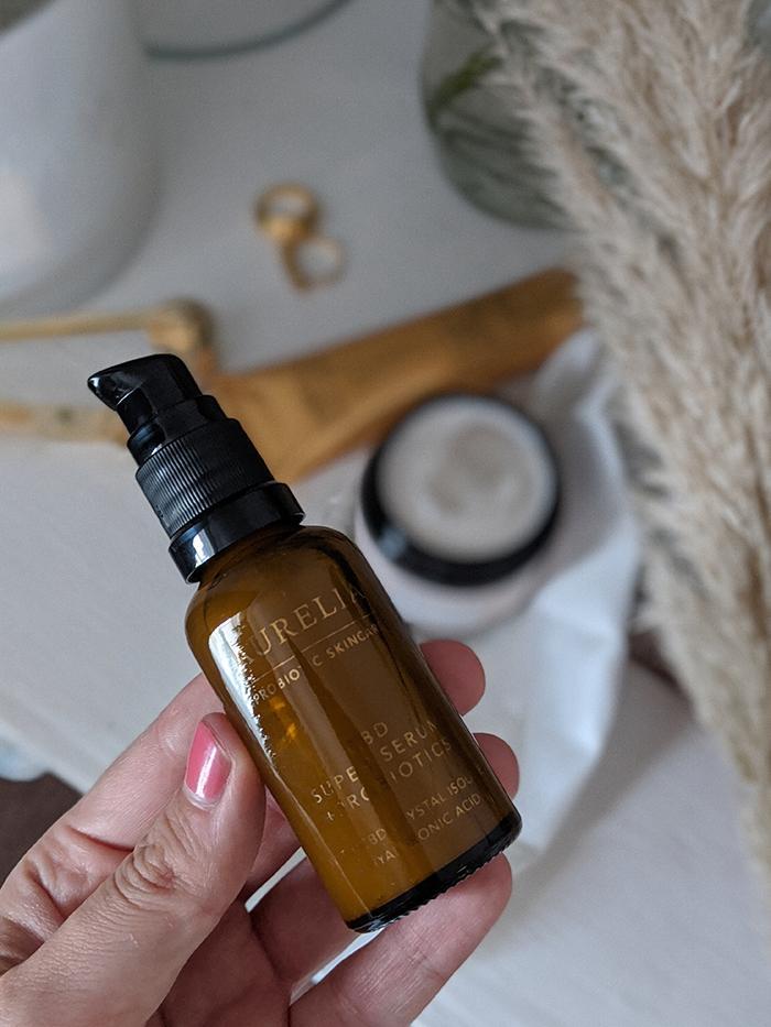 Aurelia Probiotic Skincare CBD Super Serum: flatlay