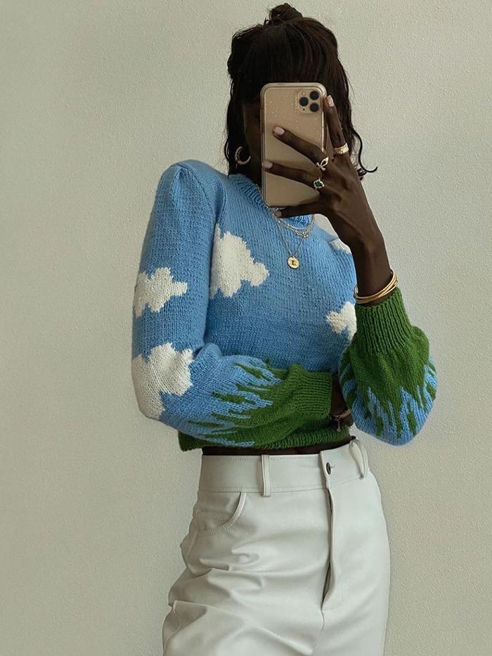 Lirika Matoshi Jumper: Cloud Print