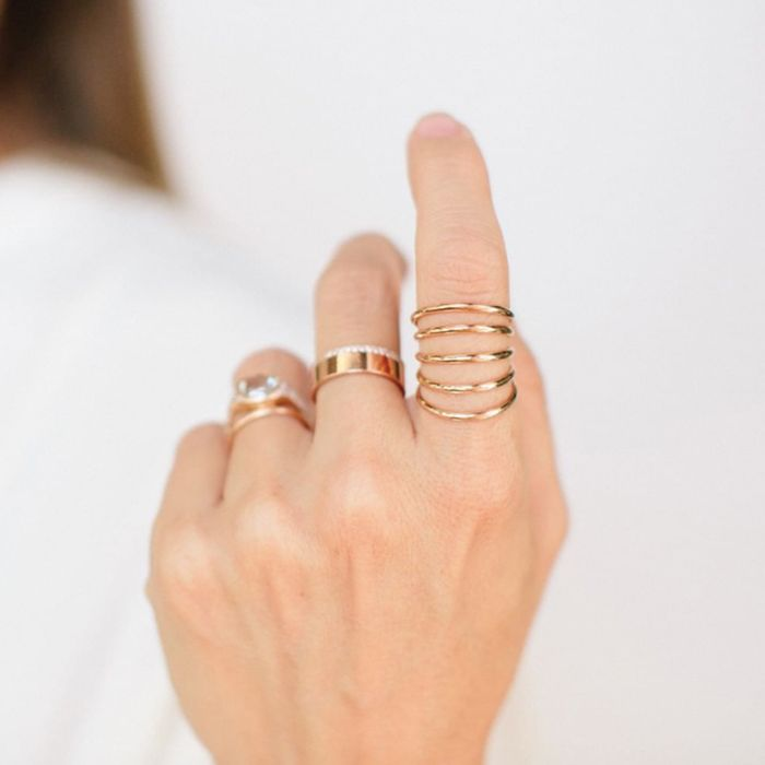 Minimalist Ring Gift For Her Stackable Ring Smoky Quartz Ring Gold Gold Stacking Ring Dainty Ring Gold Quartz Ring Fashion Ring Gold