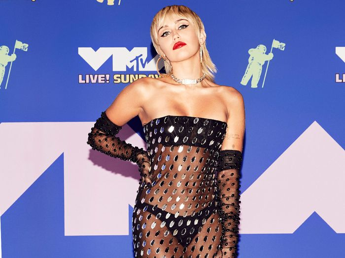 Miley Cyrus Wore a Sheer Dress With a Major Trend at the VMAs