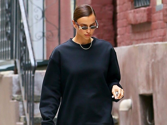 Irina Shayk's Pants-Less Outfit Is Best Worn With Boots