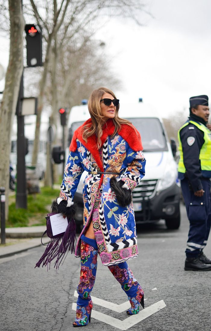 best street style outfits: Anna Dello Russo outside the Dior show in February 2014