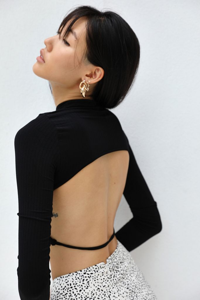 Out From Under Seamless Open-Back Cropped Top