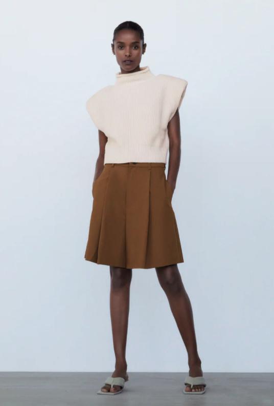 Zara Shoulder Pad Knit Top