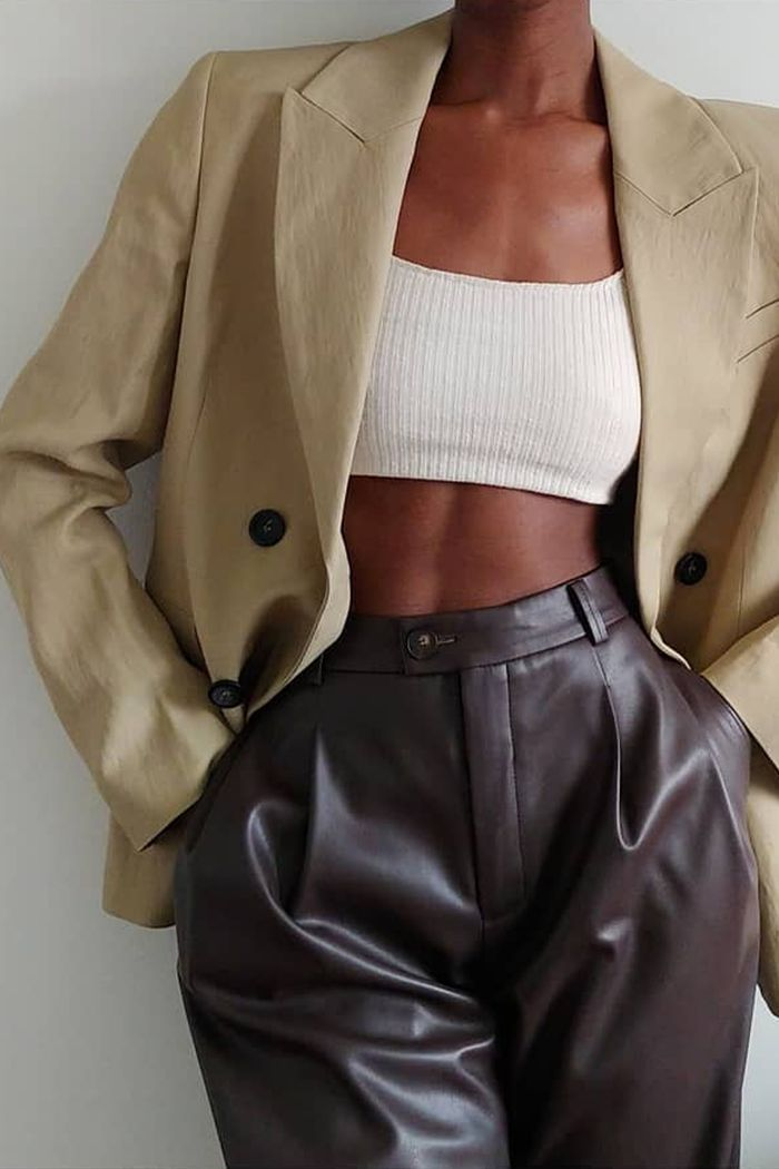 Leather separates trend 2020