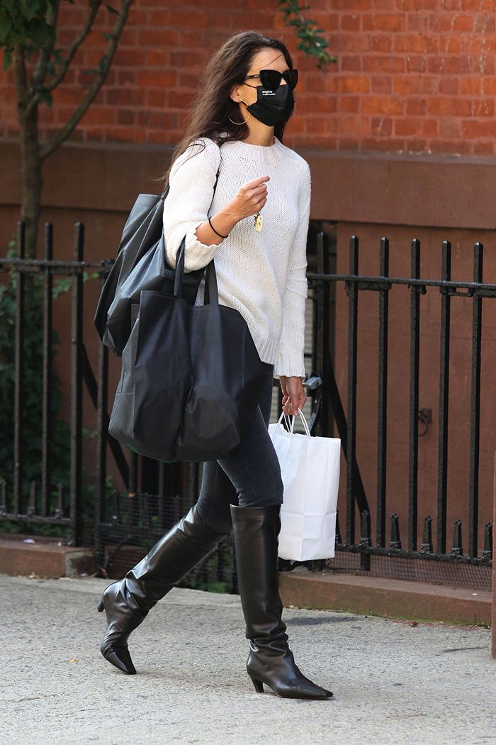 Katie Holmes skinny jean outfit