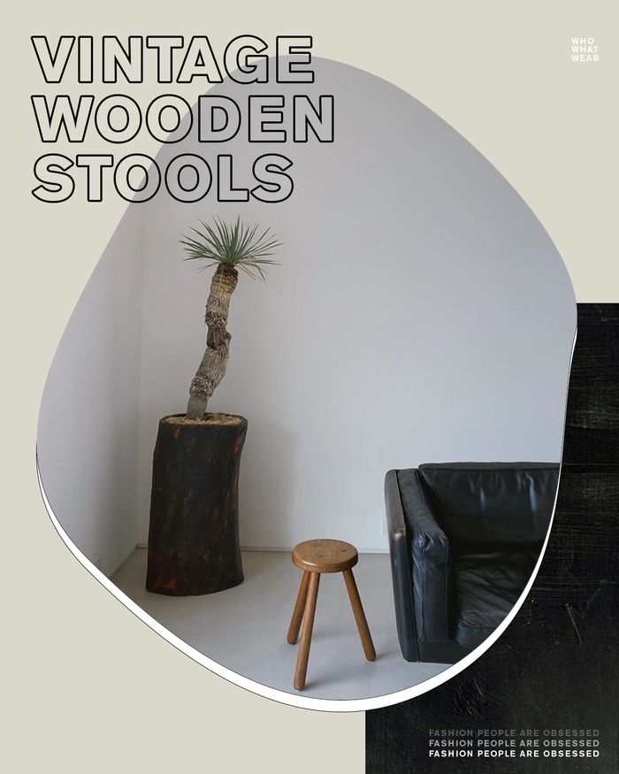 Home decor trends: vintage wooden stools