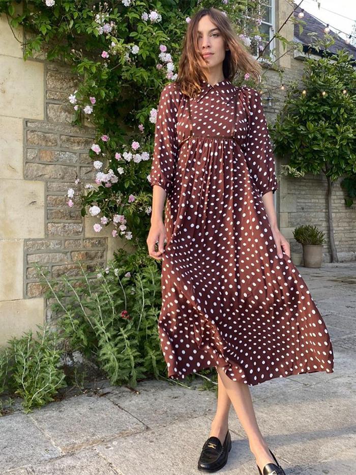 Autumn Polka Dot Trend: Alexa Chung Midi Dress