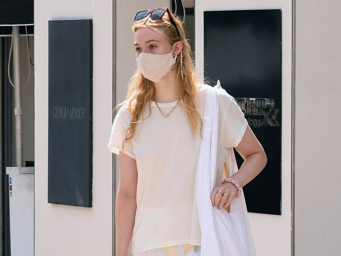 Elle Fanning Wore the Mask Accessory That Will Make Your Life Easier