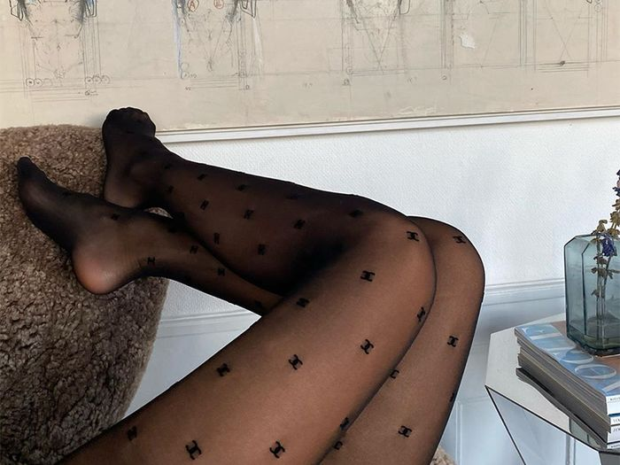 Chanel Logo Tights Are Here And We're Obsessed