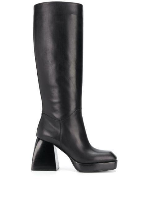 Nodaleto Knee-Length Heel Boots