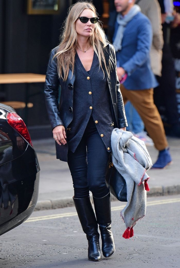 Kate moss leather blazer jacket