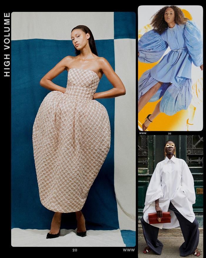 Paris fashion week trends: high volume