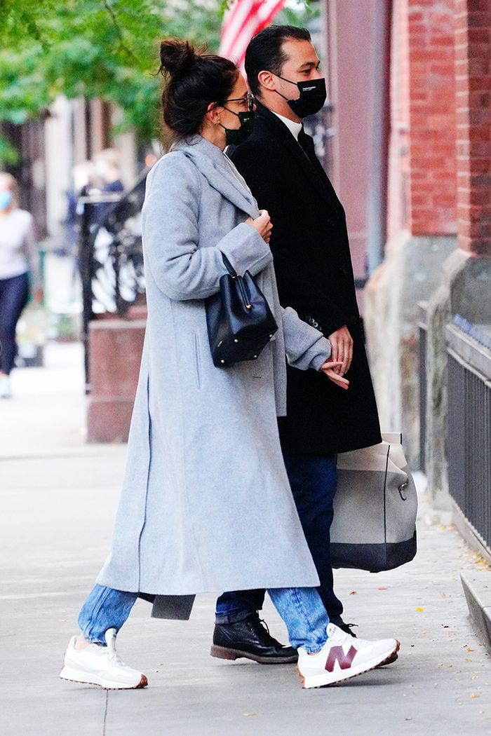 Katie Holmes New Balance sneakers