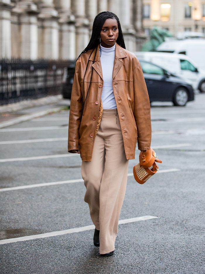 Paris Fashion Week Street Style Trends: Leather Blazers