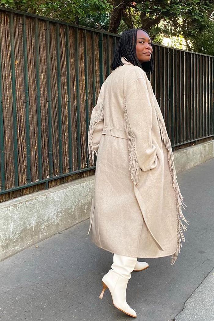 Whistles fringed coat
