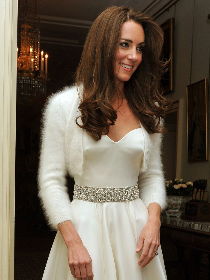 wedding dress trends 2021: kate middleton wearing her second look of the day
