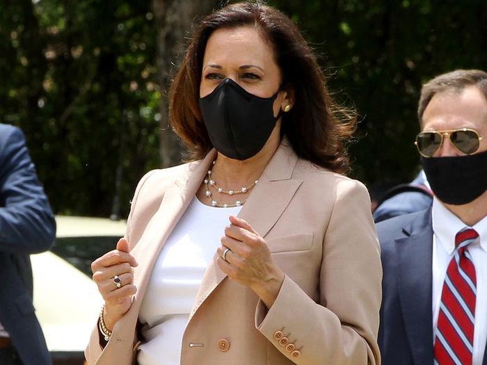 Kamala Harris face mask