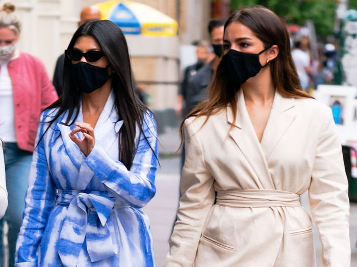 Kourtney Kardashian and Addison Rae Just Wore So Many Matching Outfits in NYC