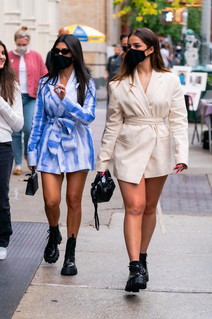 Kourtney Kardashian and Addison Rae in NYC