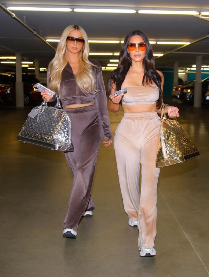 Kim Kardashian and Paris Hilton Bring Back Velour Tracksuits | Who What Wear