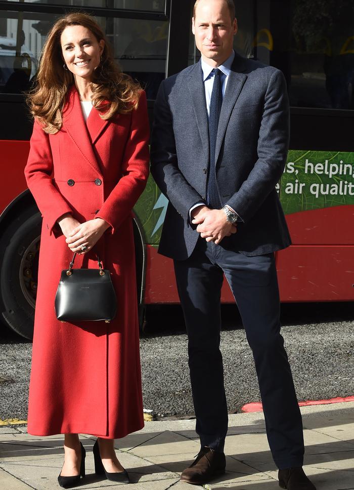 Kate Middleton in red coat: