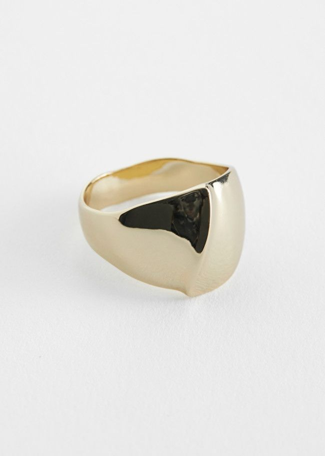 & Other Stories Chunky Organic Signet Ring