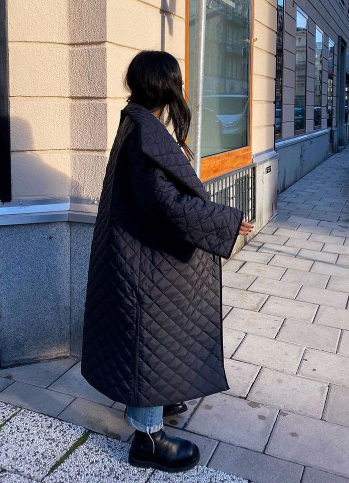 Toteme fashion brand: quilted coat