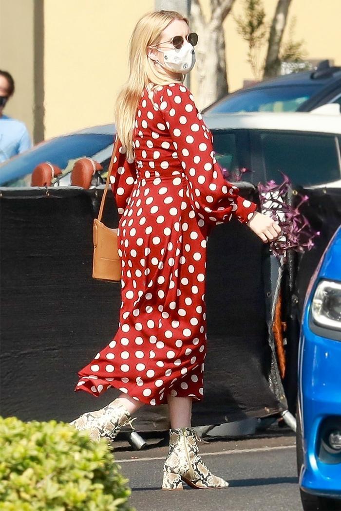 Emma Roberts Zara dress
