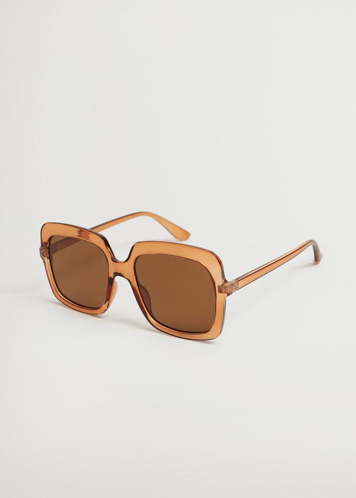 Mango Clear Frame Sunglasses