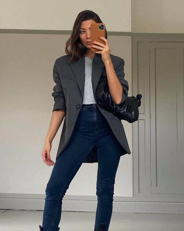 Best skinny jean outfit in 2021 with a blazer
