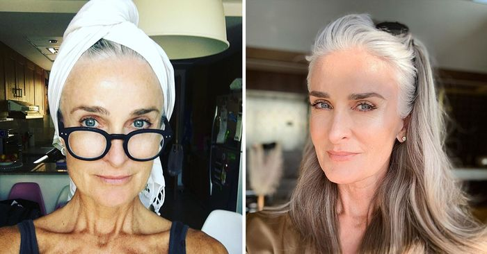 This 56-year-old model looks a decade younger—here are all her skincare secrets