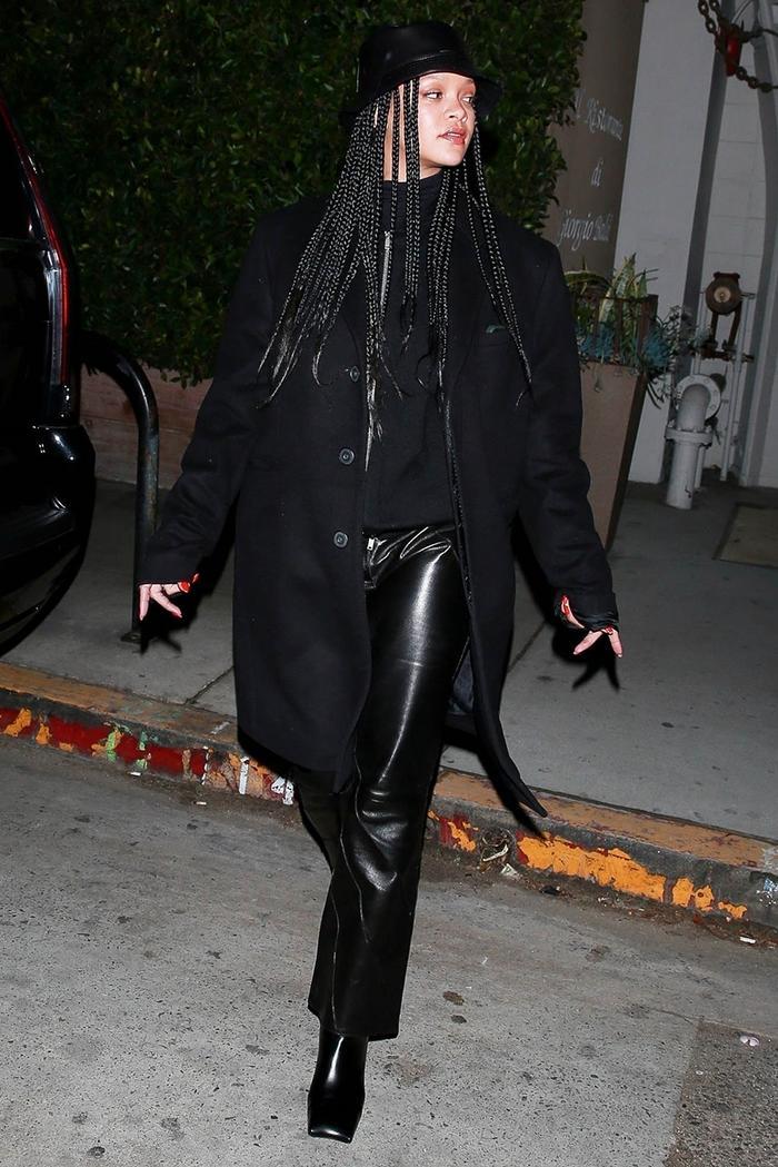 Rihanna leather pants