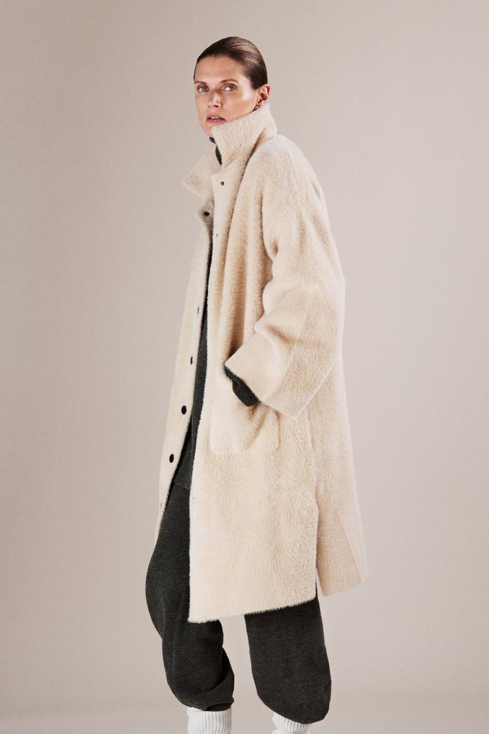 Zara Faux Fur Oversized Coat
