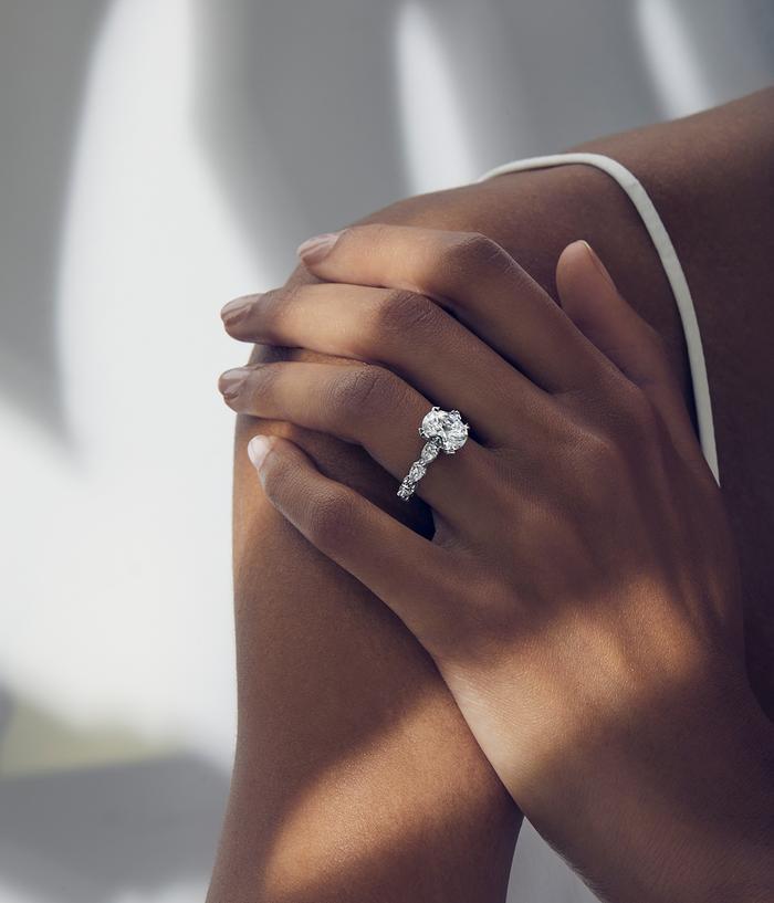 Tacori's Crescent Silhouette Engagement Ring