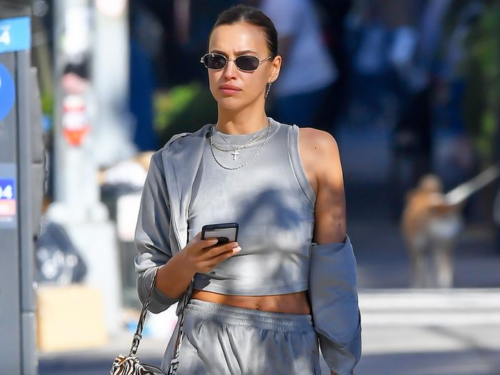 Irina Shayk Just Made Sweatpants and Knee Boots a Thing—Take It In