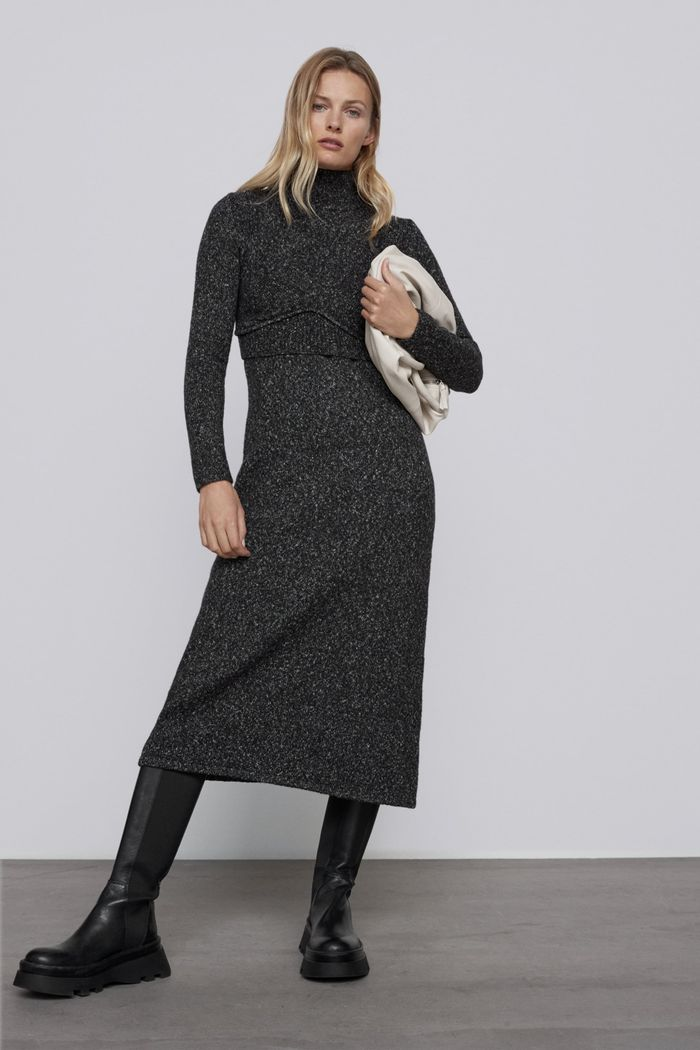 Zara Twisted Knit Dress