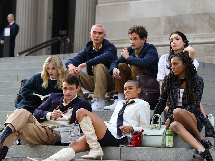 The New Gossip Girl Cast Is Filming in NYC—See Their Next-Gen Outfits