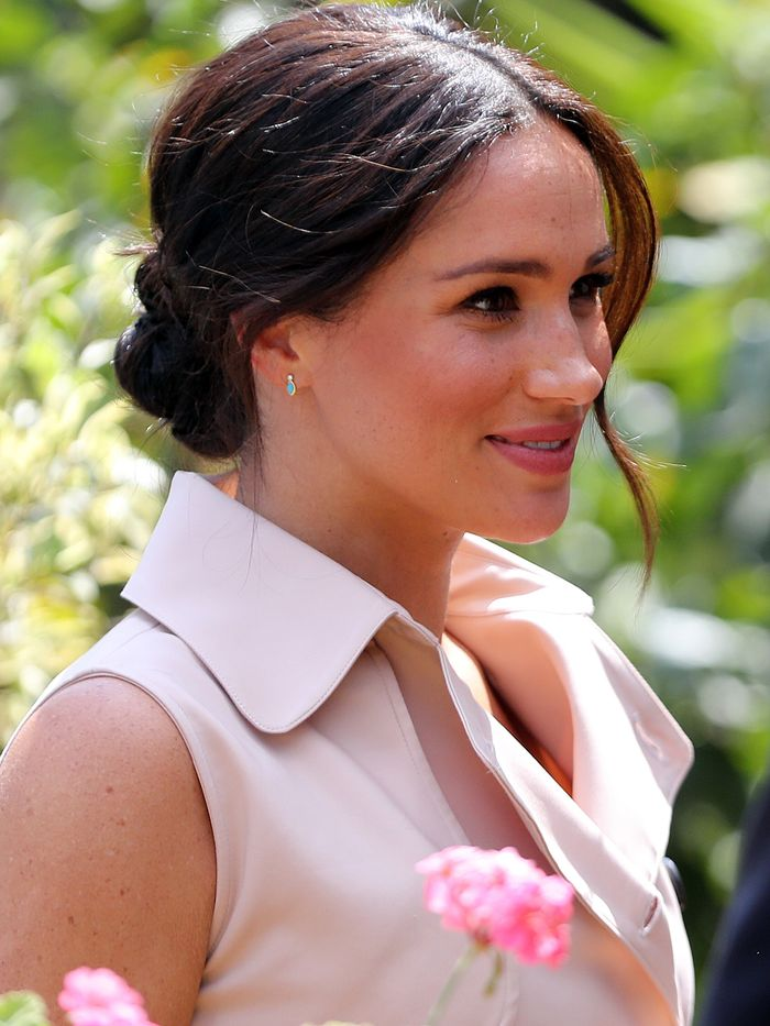 Easy Updo Hairstyles: Meghan Markle