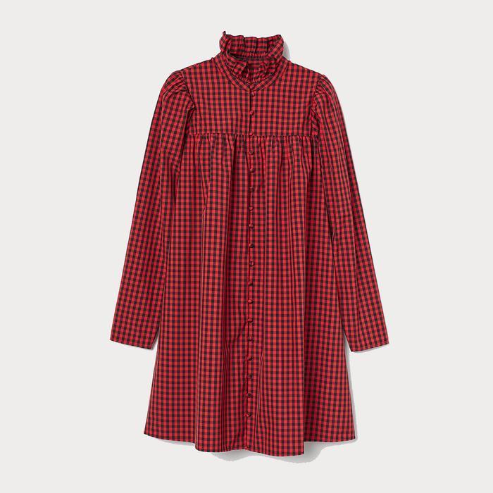 H&M Ruffled-Collar Dress