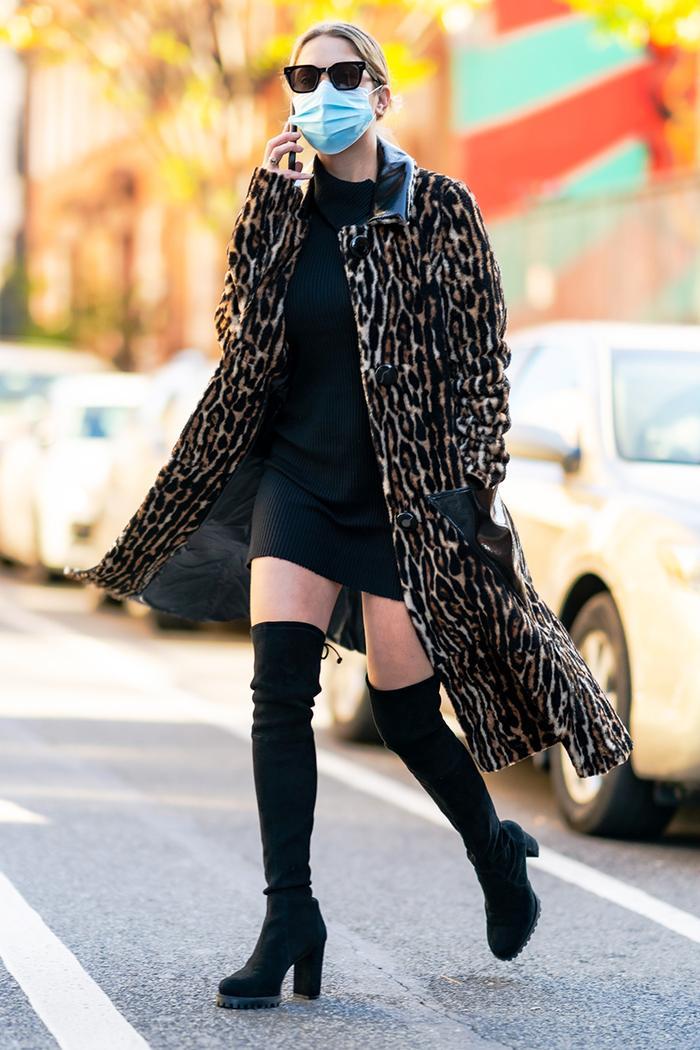 Ashley Benson wearing thigh-high boots