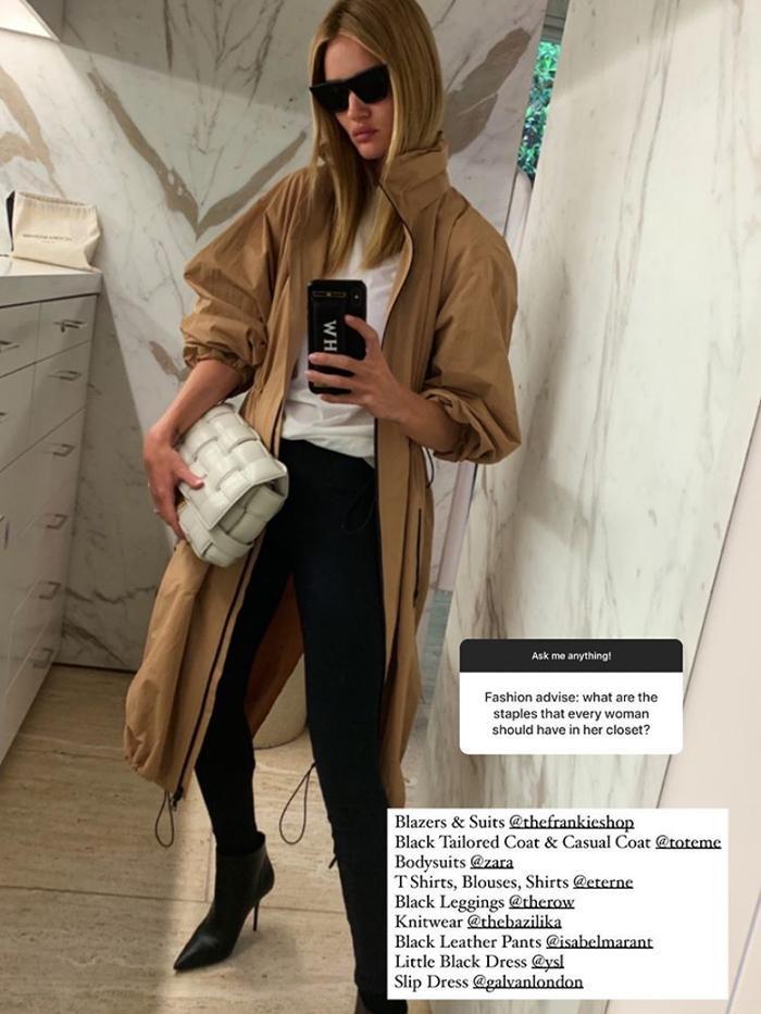 Rosie Huntington-Whiteley Style: Zara Bodysuits