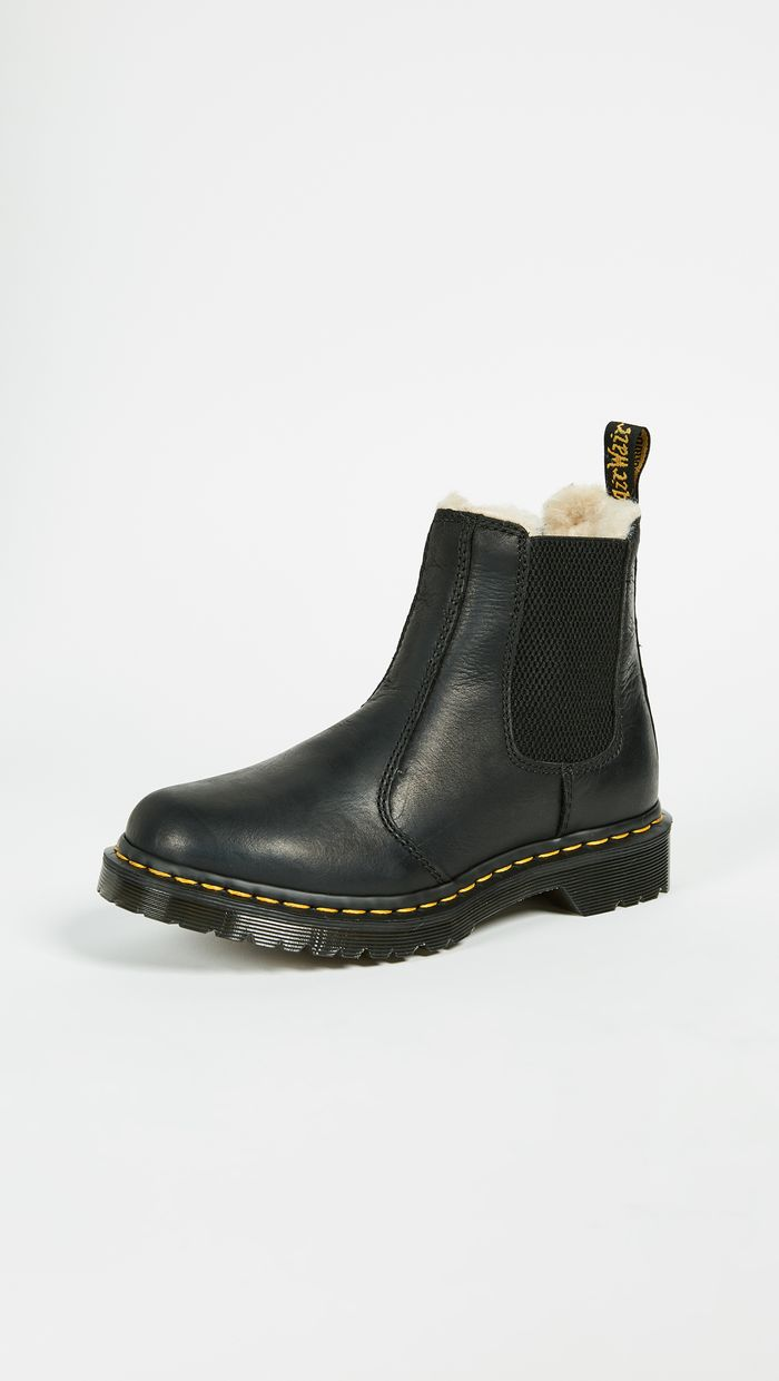 doc marten platform chelsea boots