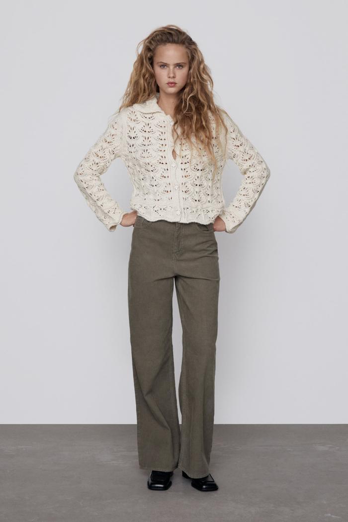 Zara Jewel Button Knit Cardigan