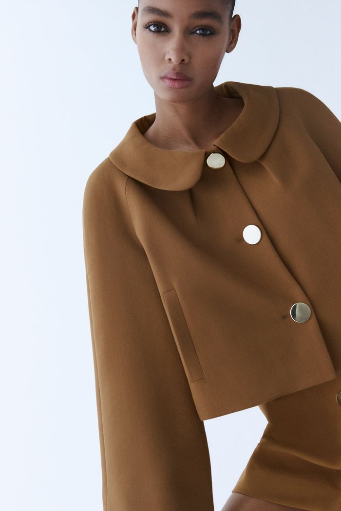 Zara Peter Pan Collar Blazer