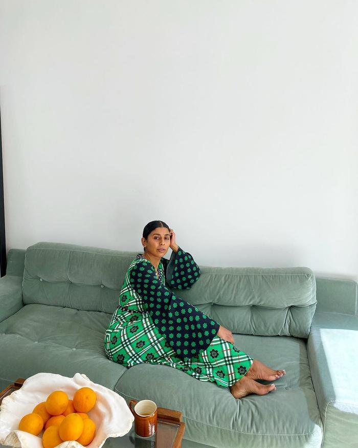 Dress Trends 2021: @monikh wears a joyful printed dress